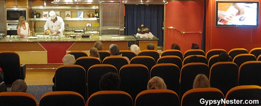 The Culinary Arts Center on Holland America's Volendam