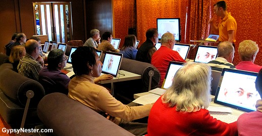 The Digital Workshop aboard the Volendam