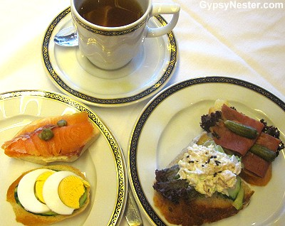 High tea on Holland America's Volendam