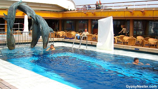 One of the pools on the ms Volendam - Holland America fleet