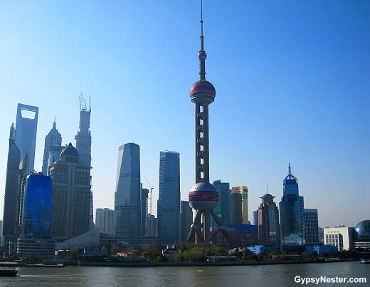Shanghai skyline in the morning