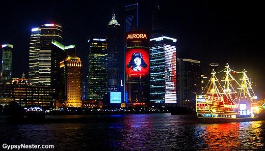 Shanghai's nighttime skyline