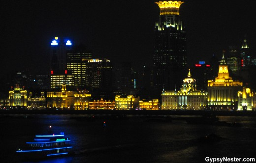 The Bund in Shanghai at night