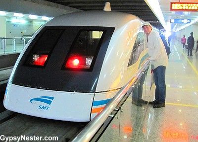 The Maglev Train in Shanghai, China!