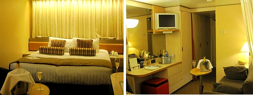 Our stateroom on the Volendam!