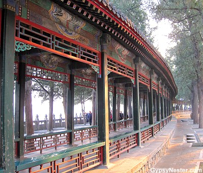 The covered walkway of The Summer Palace of Beijing, China