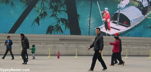 Merging of old and new in Beijing's Tiananmen Square