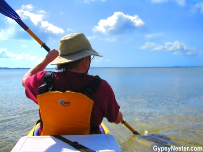 Kayaking Lake Cootharaba in the Queensland Everglades