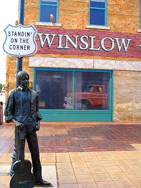 Standing on a corner in Winsow Arizona