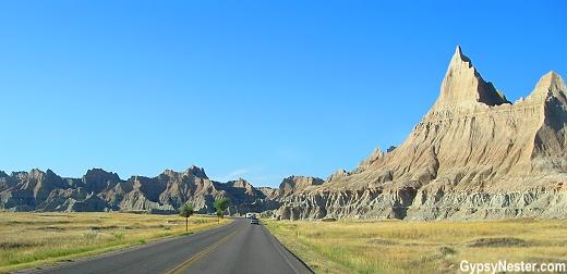 The Badlands Loop Road in Badlands National Monument, South Dakota