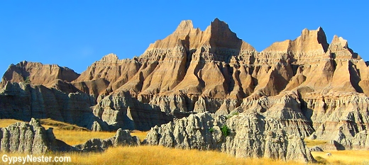 Wild formations in The Badlands of South Dakota