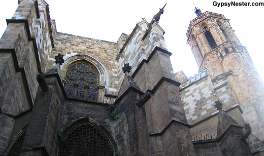 The Gothic Quarter in Barcelona, Spain