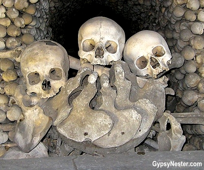 Sedlec Ossuary is the common grave of about 40,000 people
