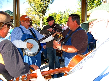 Music in the Ozarks is many times performed in a circle