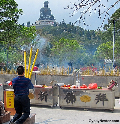Huge incense at the Big Buddha