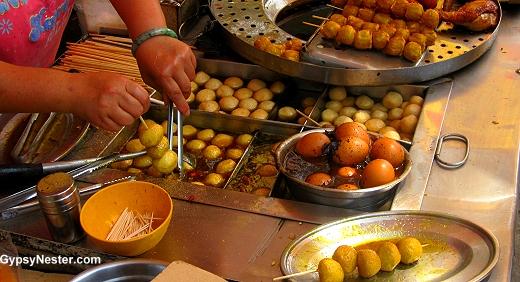 Yummy snacks at Big Buddha in Hong Kong, China