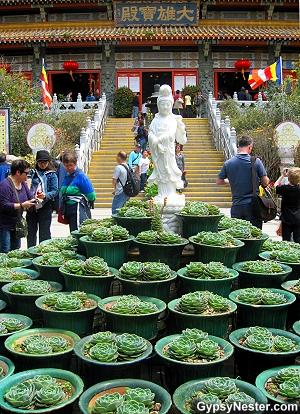 The temple at the Big Buddha in Hong Kong, China