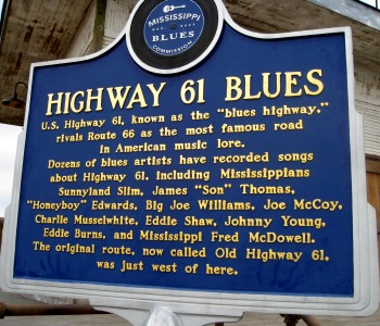 Highway 61 Blues Trail Marker