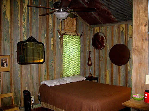 Bedroom at the Shack Up Inn