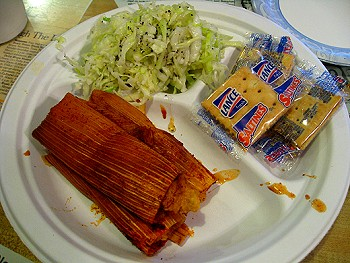 Tamales at Abe's BBQ in Clarksdale