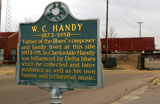 W.C. Handy's Marker in Clarksdale on the Mississippi Blues Trail