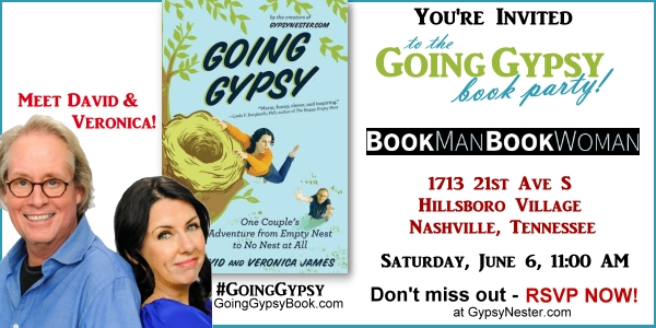 You're Invited! Going Gypsy Book Party at Nashville's Famous BookManBookWoman Bookstore! RSVP now at http://www.gypsynester.com/bookman-event.htm