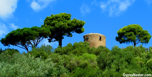Castle of the Lords of Fos in Bormes-les-Mimosas, Provence, France