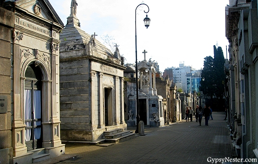 La Recoleta Cemetery in Buenos Aires, Argentina where Evita is buried