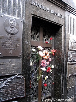 Evita Peron's tomb in Buenos Aires