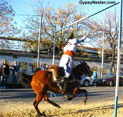 Carrera de Sortija, or Race of the Ring at Feria de Mataderos, Buenos Aires, Argentina