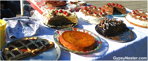 Selection of baked goods in Buenos Aires