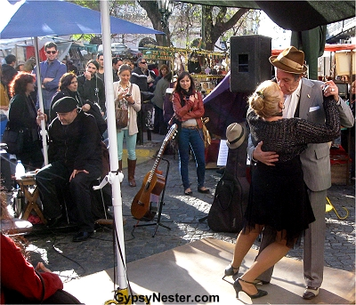 Tango in the neighborhood of San Telmo in Buenos Aires, Argentina