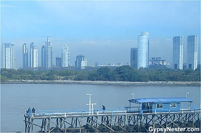 Looking back at Buenos Aires skyline