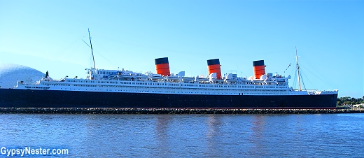 We sailed past the Queen Mary in her permanent birth in Long Beach