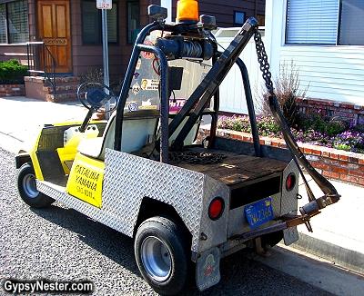 The folks on Catalina Island get around on golf carts
