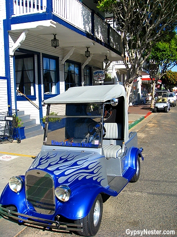 The folks on Catalina Island get around on golf carts