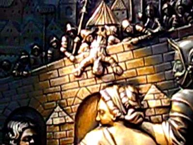 St. John of Nepomuk getting thrown off the bridge