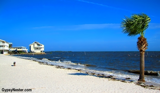 The beach in Cedar Key, Florida