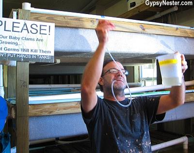 Scott Moots, Director of Aquaculture at Southern Cross Sea Farms, Cedar Key, Florida