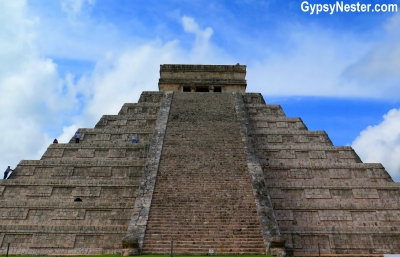 The pyramid at Chichen Izta in Mexico