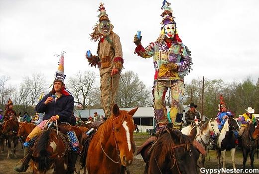Men dancing on horses, Church Point Louisiana