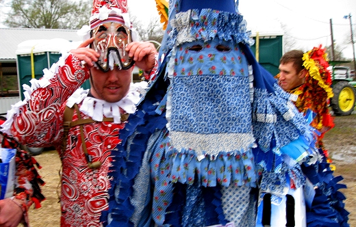 Traditional costumes of the Mardi Gras