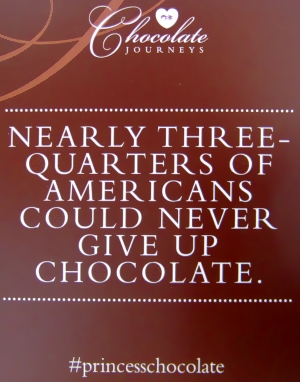 Nearly three-quarters of Americans could never give up chocolate #princesschocolate