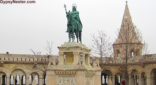 Statue of King/Saint Stephan, who was crowned in the year 1000 and brought Christianity to Hungary
