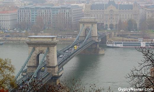 The Chain Bridge of Budapest Hungary