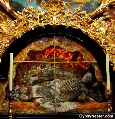 A catacomb saint in the Melk Abbey, Austria