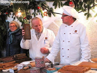 Making gingerbread in Passau, Germany