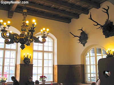 In Salzburg, like any good beer hall, big sturdy tables await mass quantities of food and drink, and animal heads, mostly the kind with antlers, adorn the walls.