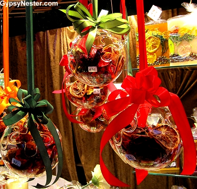 Hand blown glass ornaments at the Christmas Market in Vienna