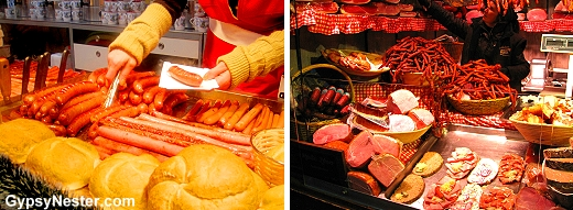 Sausages in Vienna's Christmas marke
